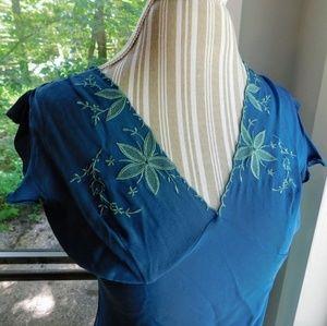 Catherine Malandrino Dresses - Catherine Malandrino Silk floral embellished